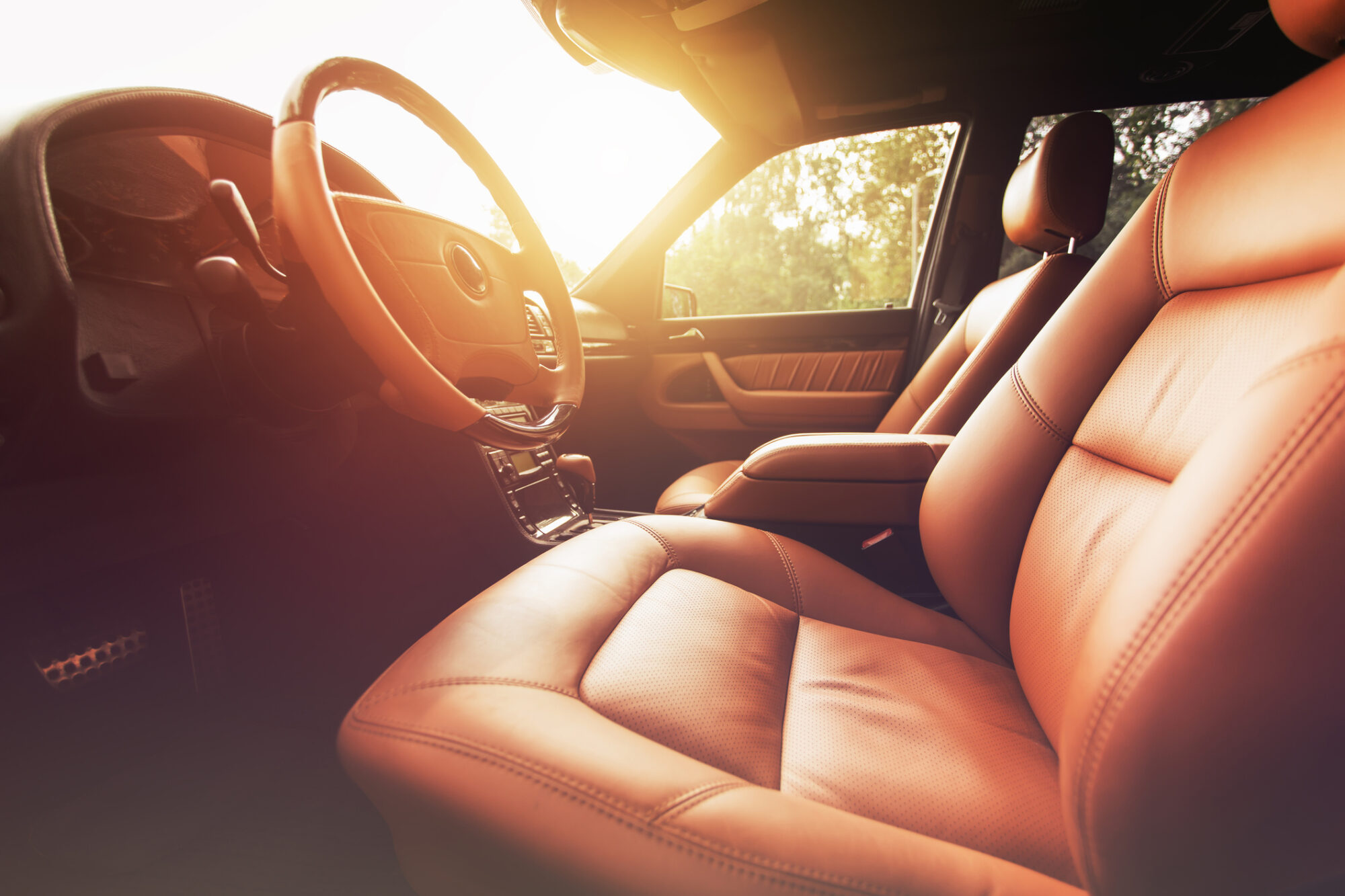 To minimize sun damage, we suggest having your home and automobile windows tinted.